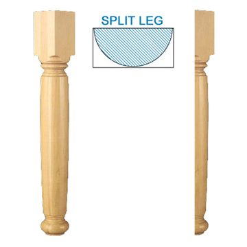 Designs Of Distinction English Estate Plain Half Table Leg