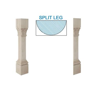 Designs Of Distinction Ionic Acanthus Half Column Island Leg