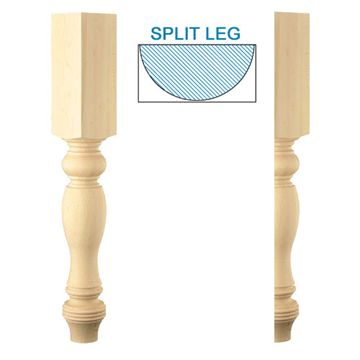 Designs Of Distinction Large Country French Half Column Island Leg