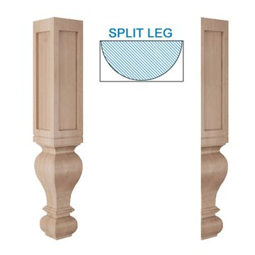 Designs Of Distinction Large Diameter Half Paneled Gaelic Island Leg