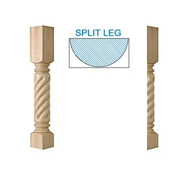 Designs Of Distinction Large Roman Classic Rope Half Column Island Leg