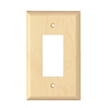 Designs Of Distinction Levington Single Rocker Wood Switchplate
