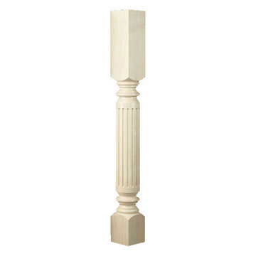 Designs of Distinction Roman Classic Fluted Column Island Leg