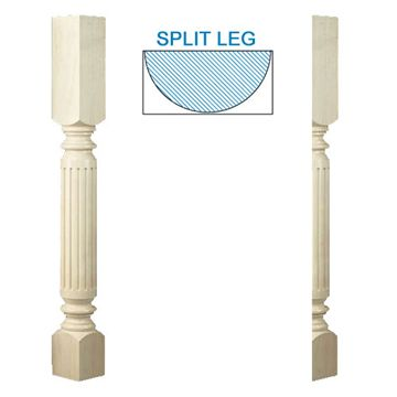 Designs Of Distinction Roman Classic Fluted Half Column Island Leg