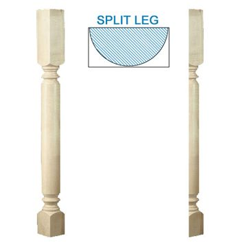 Designs Of Distinction Roman Classic Half Bar Column Island Leg