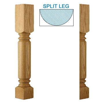 Designs Of Distinction Roman Classic Half Column Island Leg