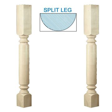 Designs Of Distinction Roman Classic Plain Half Column Island Leg