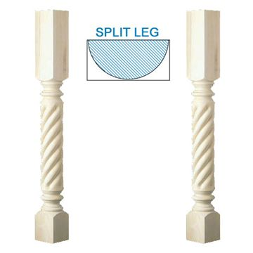 Designs Of Distinction Roman Classic Rope Half Column Island Leg
