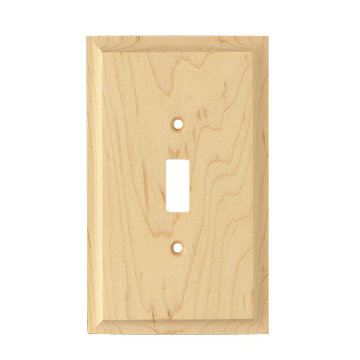Designs of Distinction Single Toggle Wood Switchplate