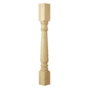 Designs of Distinction Traditional Double Square Column Island Leg