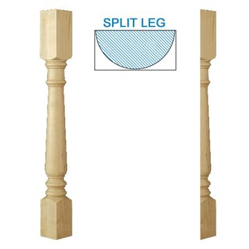Designs Of Distinction Traditional Double Square Half Column Island Leg