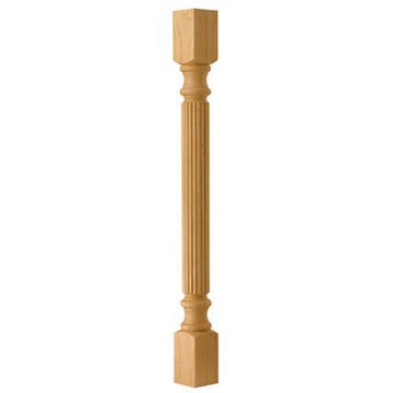 Designs Of Distinction Traditional Reeded Column Island Leg