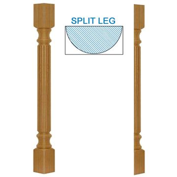 Designs Of Distinction Traditional Reeded Half Column Island Leg