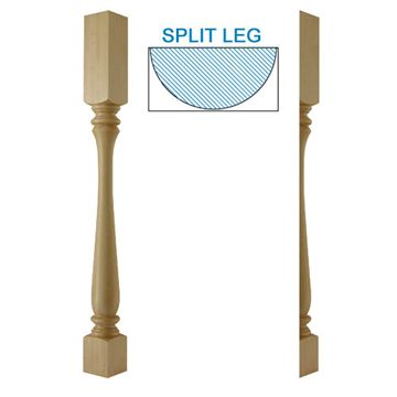 Designs Of Distinction Urn Bar Half Column Island Leg