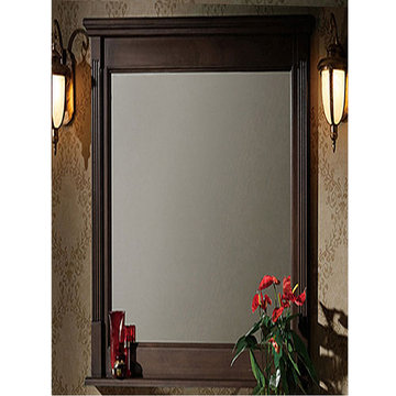 Legion Furniture 24 Inch Dark Walnut Allison Mirror