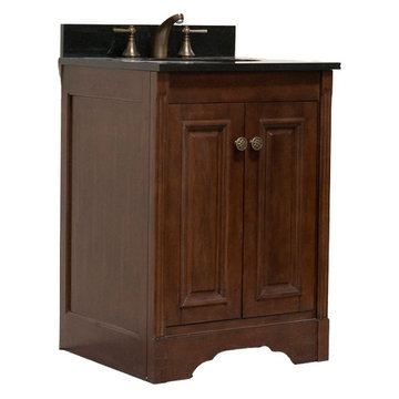 Legion Furniture 24 Inch Light Allison Vanity With Absolute Black Top
