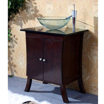 Legion Furniture 24 Inch Vanity With Tempered Glass Vessel Sink