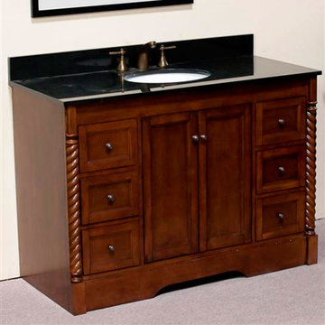 Legion Furniture 40 Inch Sink Vanity With Absolute Black Top
