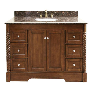 Legion Furniture 40 Inch Sink Vanity With Dark Tan Brown Top