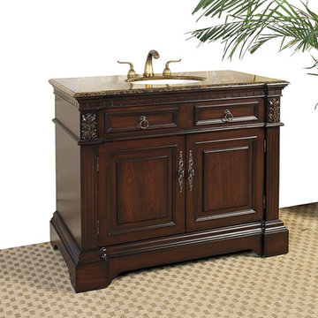 Legion Furniture 42 Inch Baltic Brown Marble Top Vanity