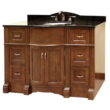 Legion Furniture 48 Inch Abigail Vanity With Absolute Black Top