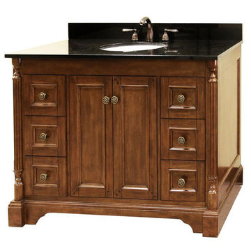 Legion Furniture 48 Inch Amelia Vanity With Absolute Black Top