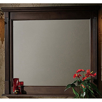 Legion Furniture 48 Inch Dark Walnut Allison Mirror