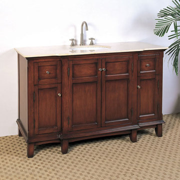 Legion Furniture 53 Inch Cream Marble Sink Chest Vanity