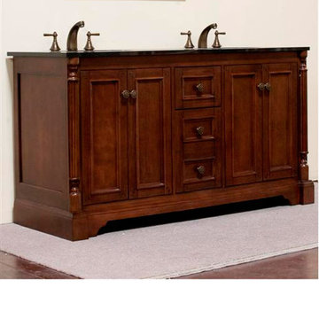Legion Furniture 60 Inch Amelia Vanity With Absolute Black Top