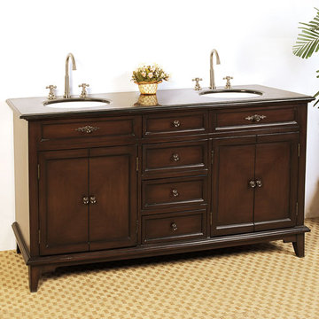 Legion Furniture 68 1/2 Inch Double Sink Chest Vanity