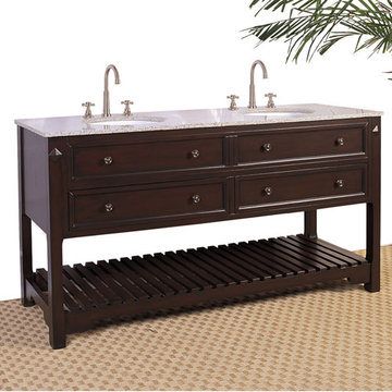 Legion Furniture 68 Inch Double Sink Chest Vanity