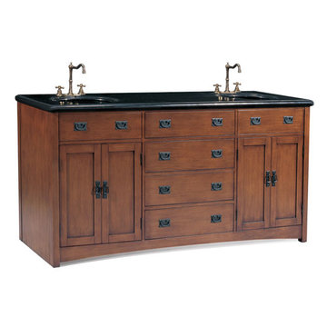 Legion Furniture 72 Inch Black Granite Top Double Sink Vanity