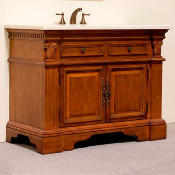 Legion Furniture Angela Sink Chest Vanity In Walnut