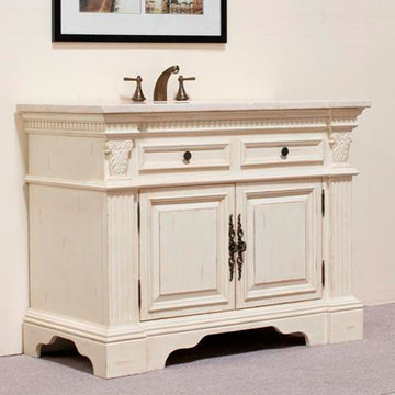 Legion Furniture Angela Sink Chest Vanity In White