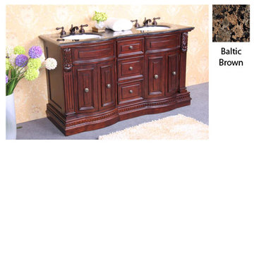 Legion Furniture Betty Vanity With Baltic Brown Granite Top