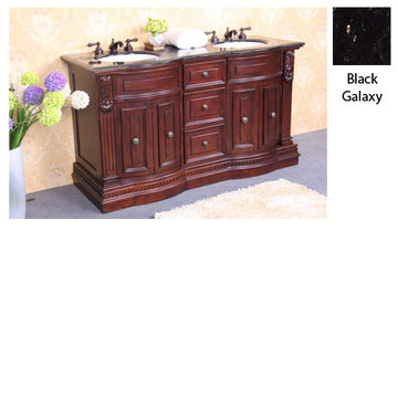 Legion Furniture Betty Vanity With Black Galaxy Granite Top