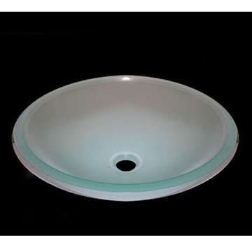 Legion Furniture Britney Tempered Glass Vessel Sink