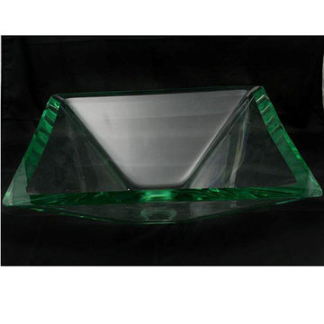 Legion Furniture Diane Tempered Glass Vessel Sink
