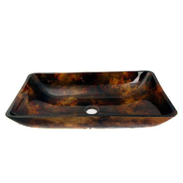 Legion Furniture Doris Tempered Glass Vessel Sink