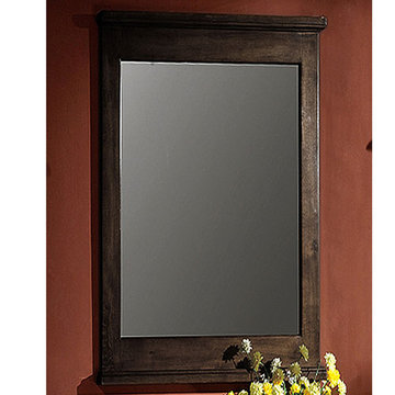 Legion Furniture Grace 24 Inch Dark Walnut Mirror