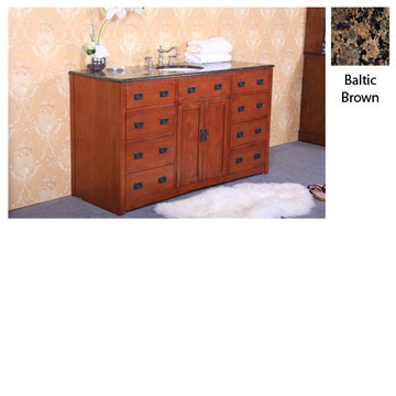 Legion Furniture Jennifer Single Sink Vanity With Baltic Brown Top