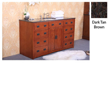 Legion Furniture Jennifer Single Sink Vanity With Dark Tan Brown Top