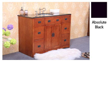Legion Furniture Linda 48 Inch Vanity With Absolute Black Top