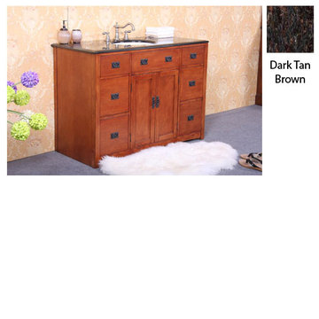 Legion Furniture Linda 48 Inch Vanity With Dark Tan Brown Top
