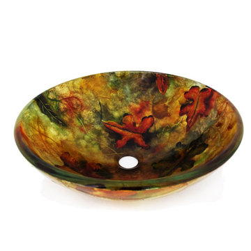 Legion Furniture Megan Tempered Glass Vessel Sink