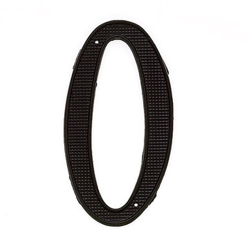 Jvj Hardware 4 Inch Black House Number