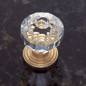 Jvj Hardware Classic Collection Faceted Crystal Knob With Stepped Base