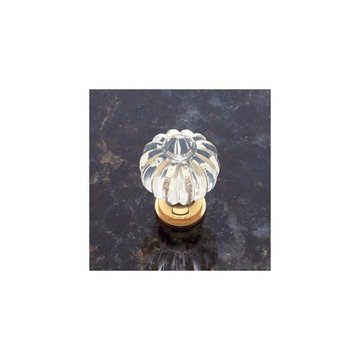 Jvj Hardware Classic Collection Fluted Crystal Knob With Base