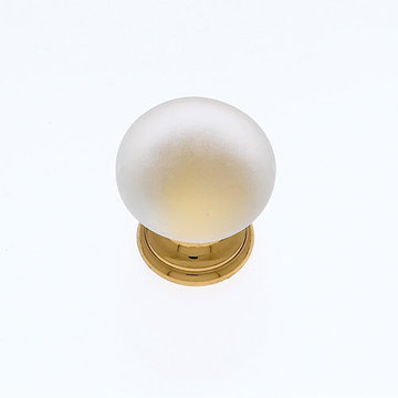 Jvj Hardware Classic Collection Frosted White Knob