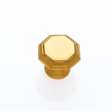 Jvj Hardware Classic Collection Octagon Brass Knob